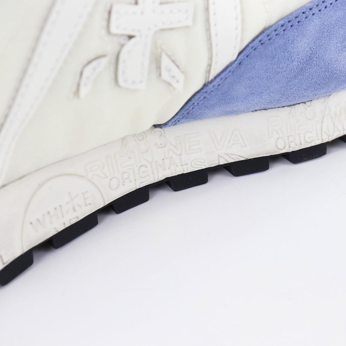 プレミアータホワイト PREMIATA WHITE メンズ ナイロン スエード ローカットスニーカー JOHN LOW PRH WH/BL(ホワイト) 春夏新作