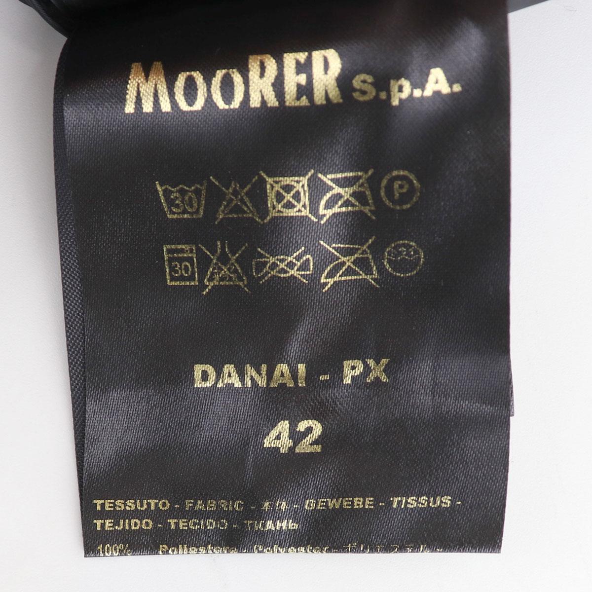 【決算セール】ムーレー MOORER レディース フォックスファーフード付き ダウンコート DANAI 358-81118-08(ブラック)【返品交換不可】