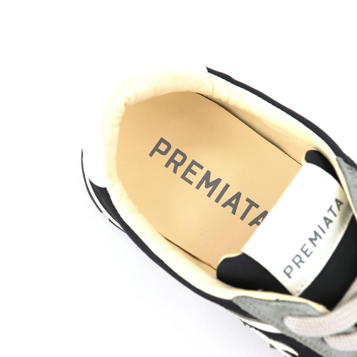 プレミアータホワイト PREMIATA WHITE メンズ ナイロン スエード ローカットスニーカー JOHN LOW PRH BK/GY(ブラック) 春夏新作