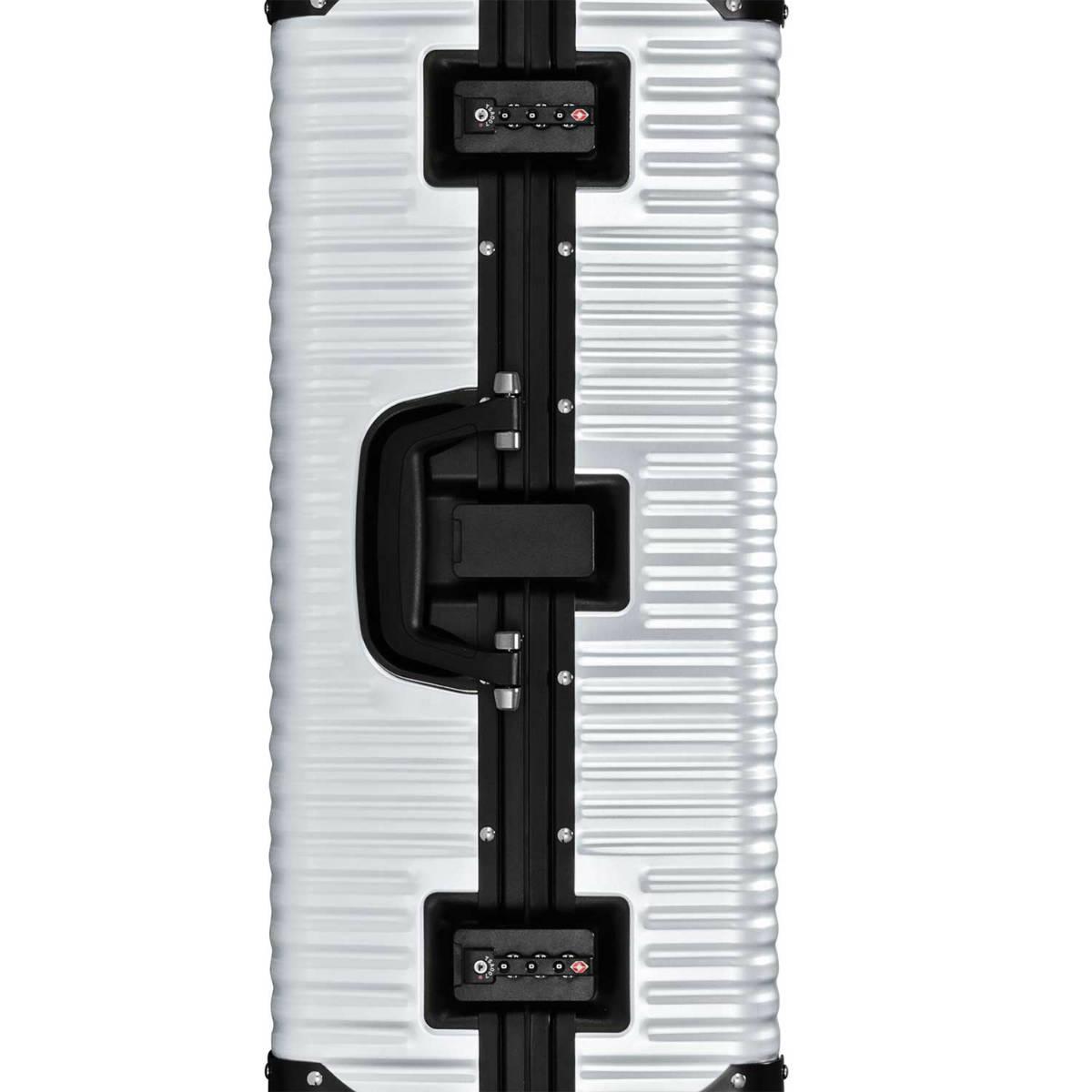 【クリアランスセール・GoTo トラベル】ランツォ LANZZO Norman ノーマン 4輪 87L 約7.0kg ダイアルロック式 アルミ スーツケース Al-Mg29 62901 SLV(シルバー)【返品交換不可】special priceAM