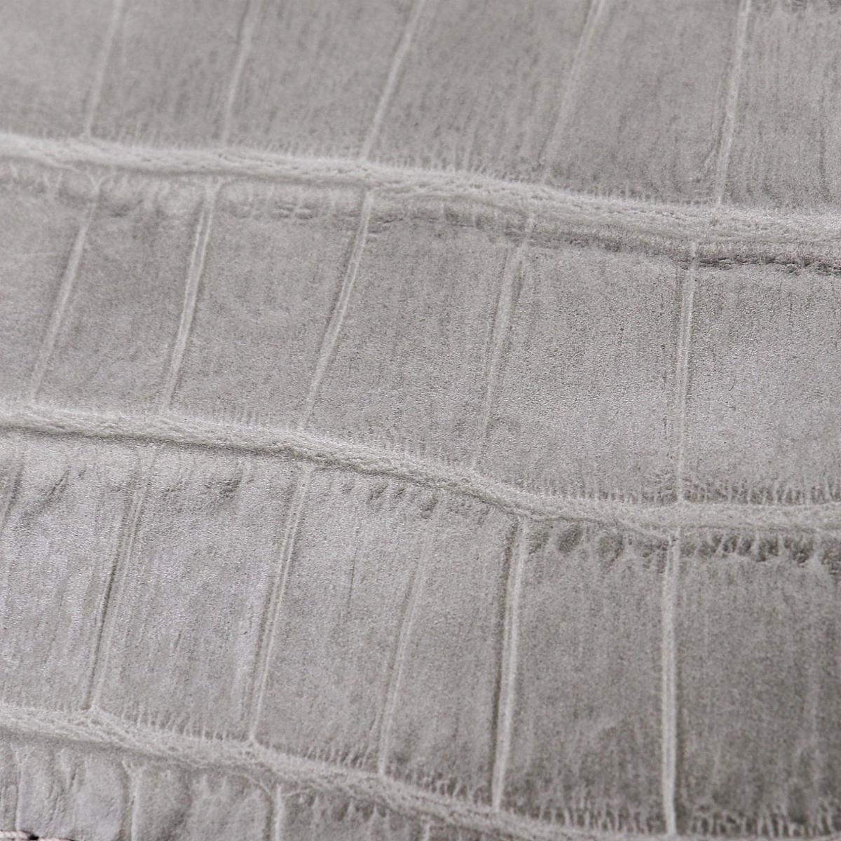 フェリージ Felisi クロコダイル型押し エンボスレザー L字ジップ 2つ折り財布 1058/SA FLS GREY(グレー)春夏新作