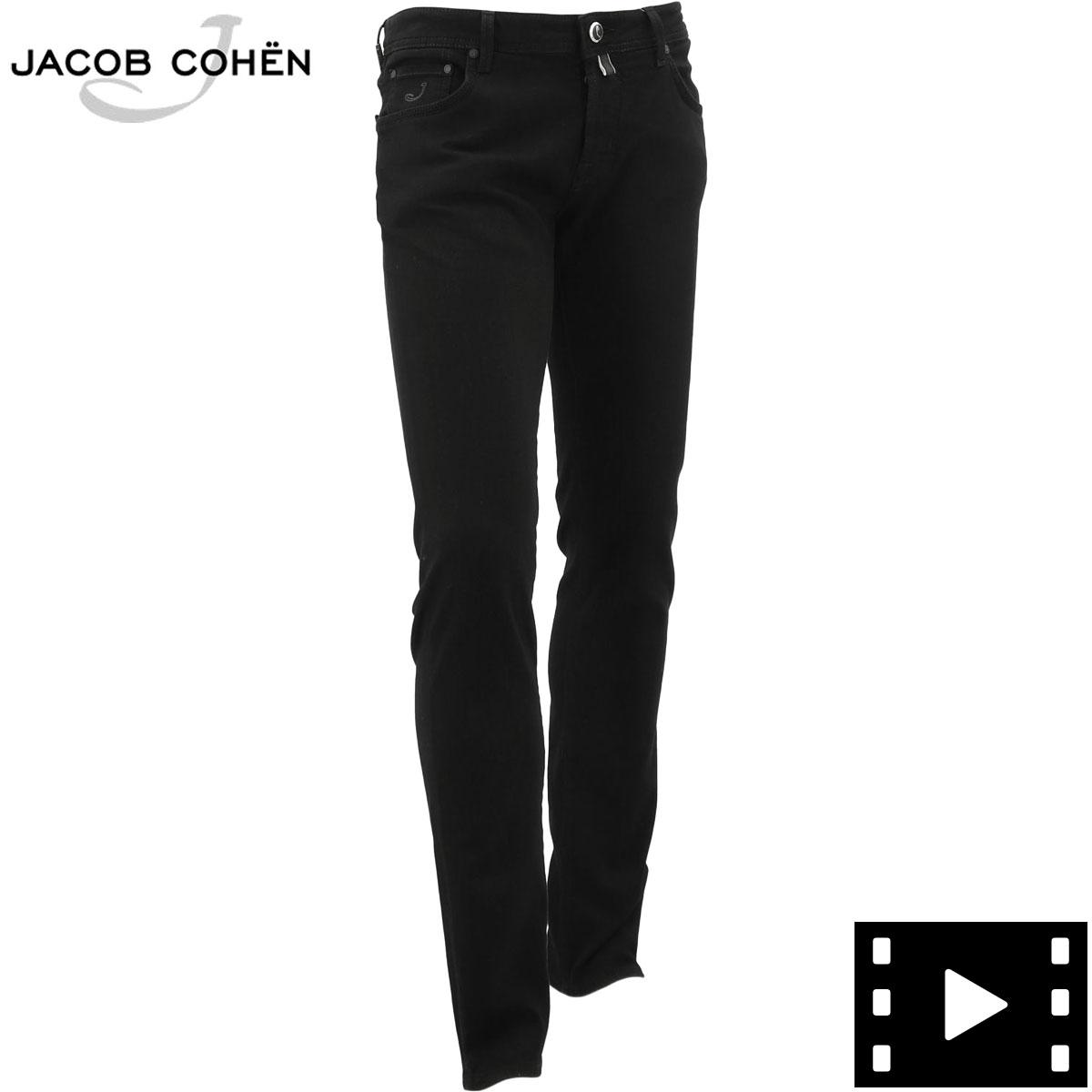 ヤコブコーエン JACOB COHEN メンズ ストレッチ スリムフィット 5ポケット ブラックデニム J622 SLIM 1789-W1 20466 08(ブラック)秋冬新作