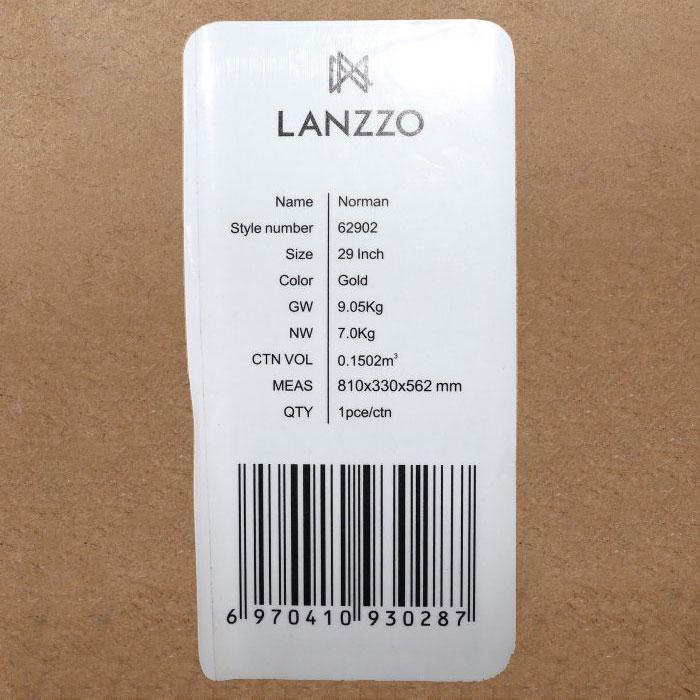 【決算セール・GoTo トラベル】ランツォ LANZZO Norman ノーマン 4輪 87L 約7.0kg ダイアルロック式 アルミ スーツケース Al-Mg29 62902 GLD(ゴールド)【返品交換不可】special priceAM