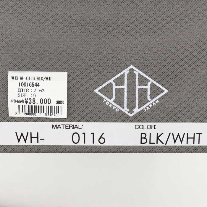 ダブルエイチ WH メンズ 撥水スエード×コーデュラ×ネオプレン ローカットスニーカー ヒロシツボウチ×干場義雅 WH-0116 BLK(ブラック)秋冬新作
