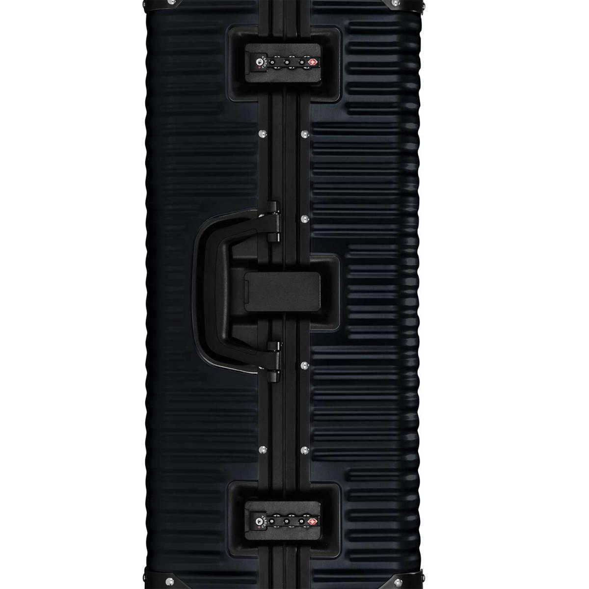 【クリアランスセール・GoTo トラベル】ランツォ LANZZO Norman ノーマン 4輪 87L 約7.0kg ダイアルロック式 アルミ スーツケース Al-Mg29 62904 BLK(ブラック)【返品交換不可】special priceAM