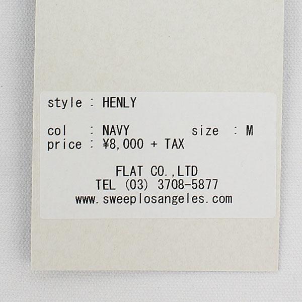 スウィープ!! ロサンゼルス SWEEP!! LosAngeles メンズ コットン 半袖 ヘンリーネックTシャツ HENLY NAVY(ネイビー)