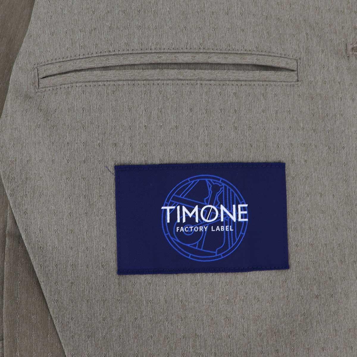 【クリアランスセール】ティモーネ Timone メンズ 撥水ナイロン ドットストライプ エアリーストレッチ サマー サファリジャケット TM0807123(サンドベージュ)【返品交換不可】