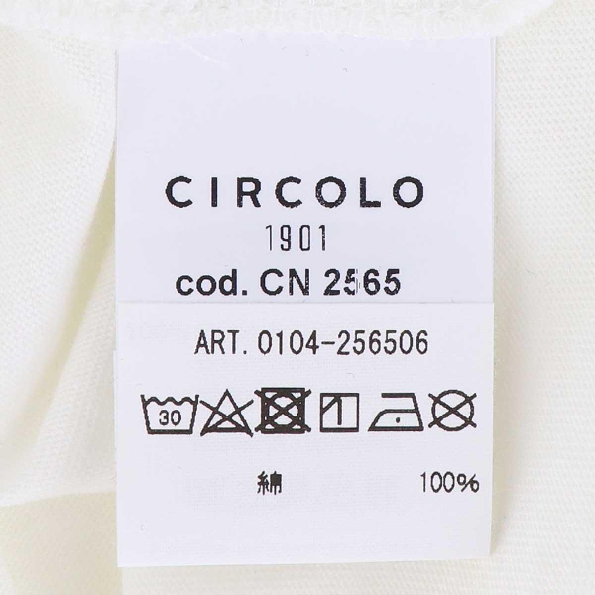 【決算セール】チルコロ1901 CIRCOLO1901 メンズ コットン クルーネック 半袖 Tシャツ 0104-256506 BIAN(ホワイト)【返品交換不可】