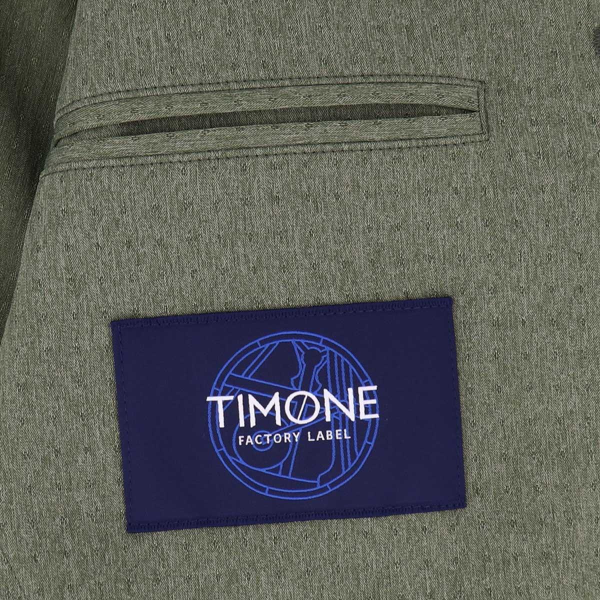 【クリアランスセール】ティモーネ Timone メンズ 撥水ナイロン ドットストライプ エアリーストレッチ サマー サファリジャケット TM0807123(グリーン)【返品交換不可】