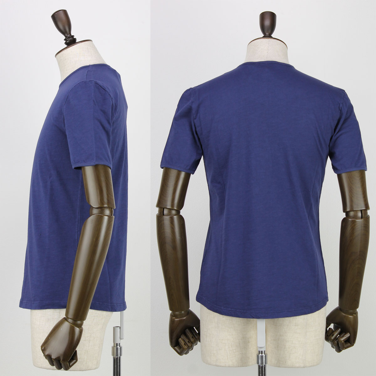 【クリアランスセール 半額以下】ジレッリブルーニ GIRELLI BRUNI メンズ コットン クルーネック 半袖 Tシャツ F964CO INDIGO (インディゴ)【返品交換不可】
