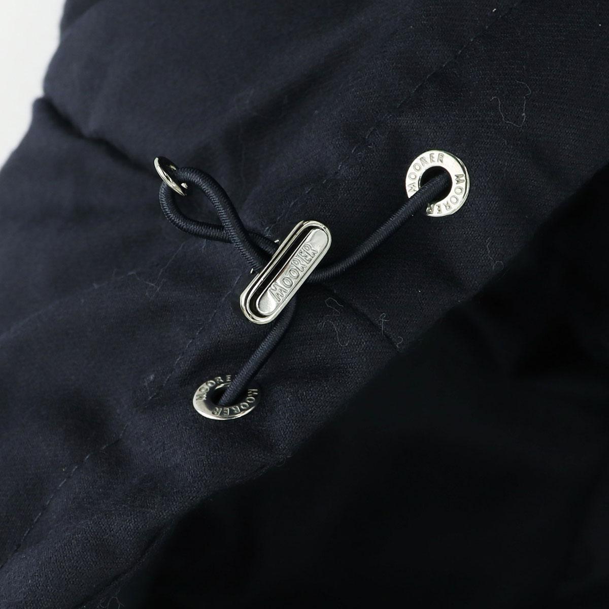 【決算セール】ムーレー MOORER メンズ 8B ダブルブレスト カシミヤ混フランネルウール ダウンコート フローリオ FLORIO-LL1 81717 76 BLU(ダークネイビー)【返品交換不可】