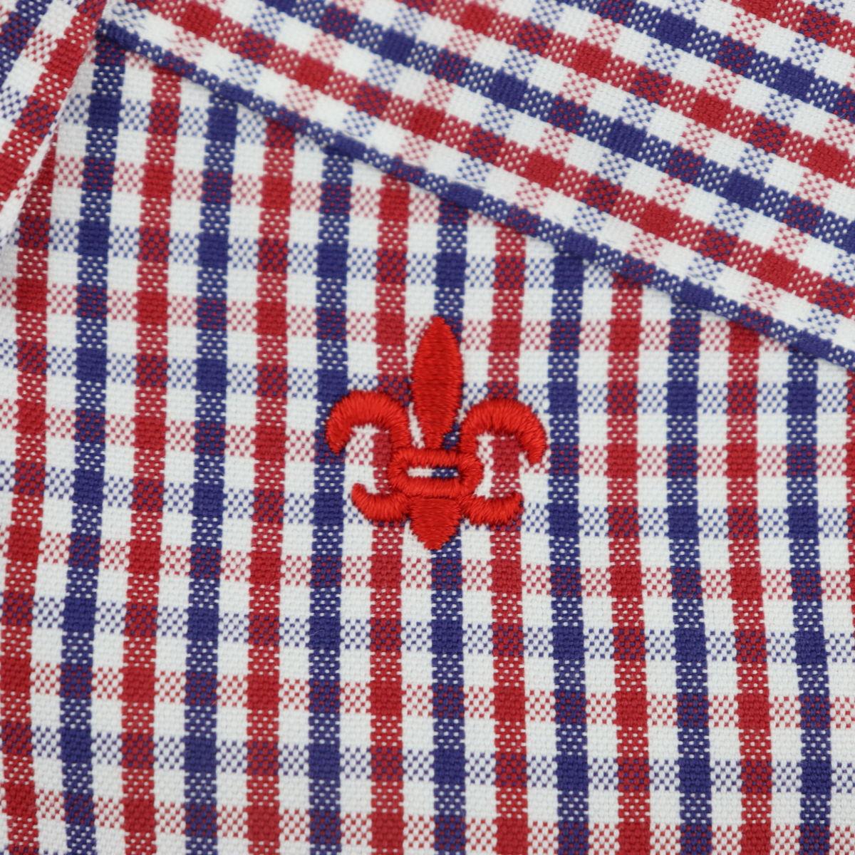 スウィープ ロサンゼルス Sweep!! LosAngeles メンズ ピンオックスフォード ギンガムチェック ボタンダウンシャツ SL130008  SWP RED×NAVY(レッド×ネイビー) 春夏新作