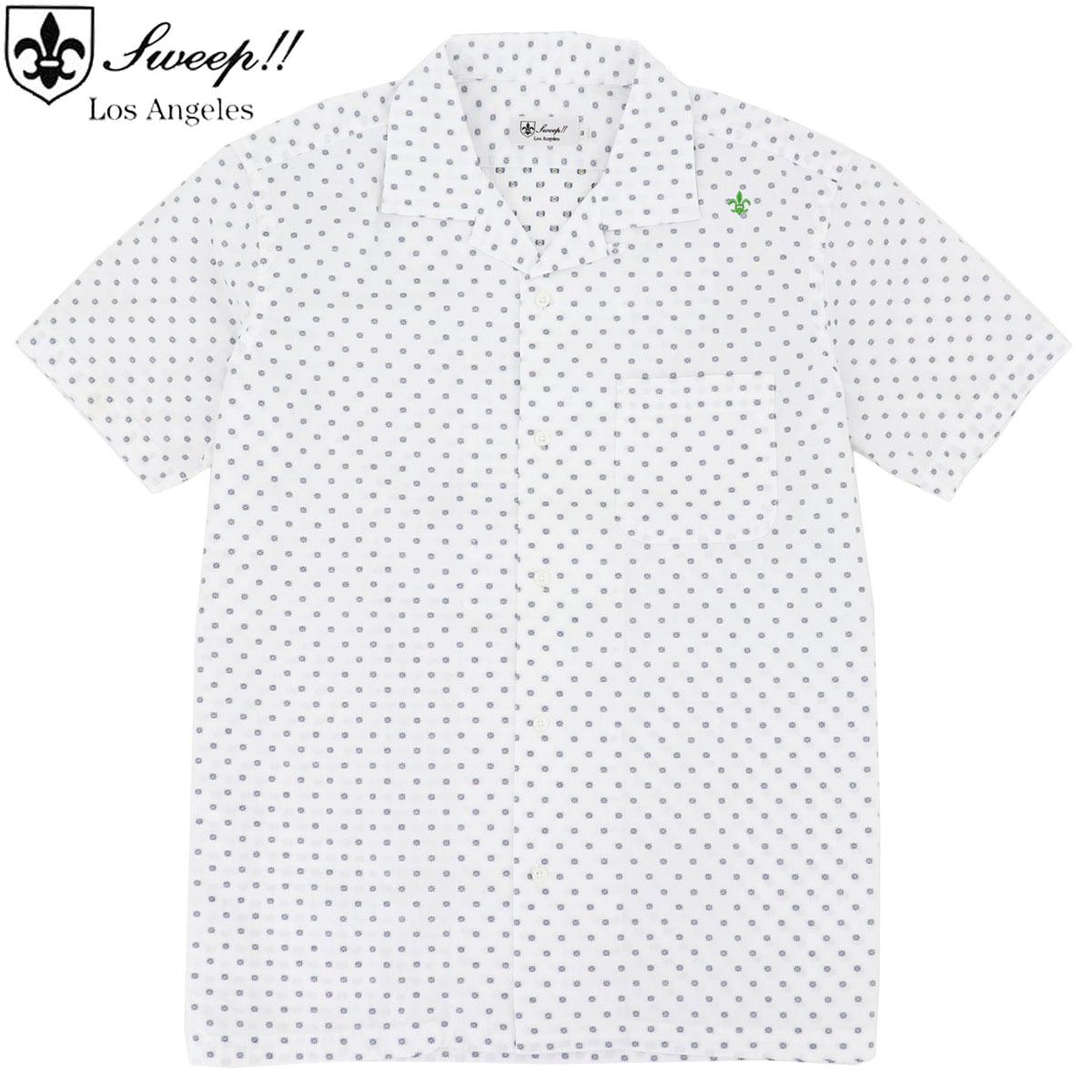 スウィープ ロサンゼルス Sweep!! LosAngeles メンズ リゾートライン 小花柄刺繍 オープンカラーシャツ リゾートライン / SL140003  SWP WHITE(ホワイト) 春夏新作