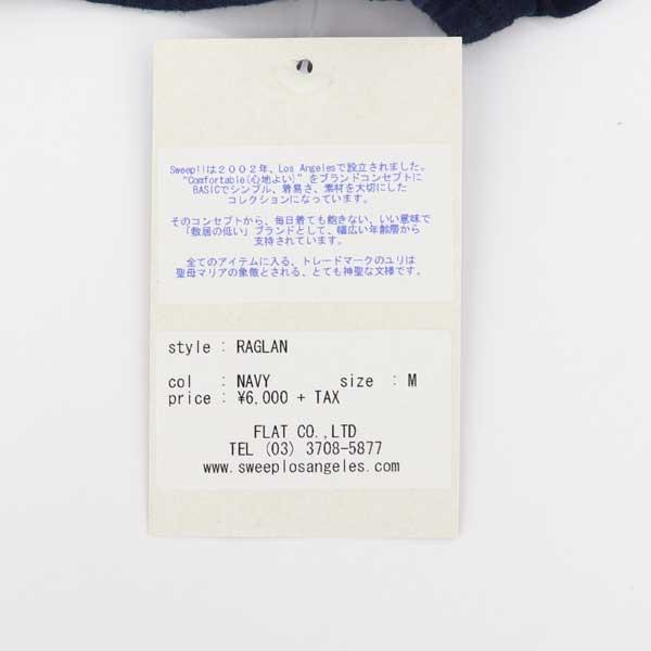 【クリアランスセール】スウィープ!! ロサンゼルス SWEEP!! LosAngeles メンズ コットン 5分袖 ラグランスリーブTシャツ RAGLAN SWFJRLN-04 NAVY(ネイビー)【返品交換不可】