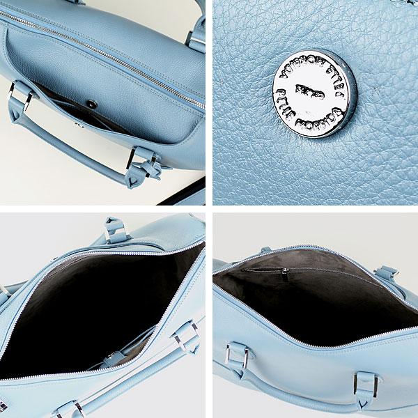 ペッレモルビダ PELLE MORBIDA BRIEF BAG ブリーフケース(ショルダー付き) PMO-MB020 (サックス)