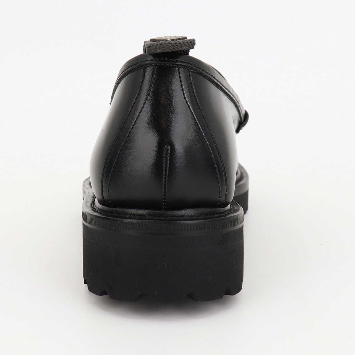 ダブルエイチ WH メンズ カーフレザー ビットローファー 干場氏別注モデル WHS-0504 BLK×BLK(ブラック)