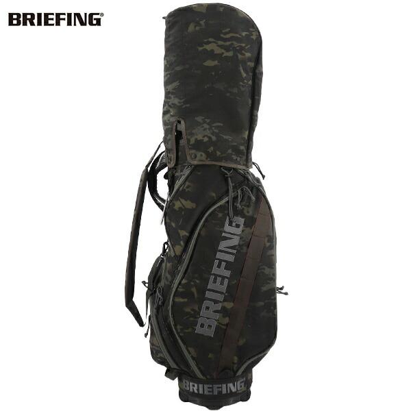 ブリーフィングゴルフ BRIEFING GOLF キャディバッグ CR-5♯02 1000D CORDURA NYLON SERIES BRG201D02 BRG 110 MULTICAMO BLACK(ブラックカモフラージュ)秋冬新作