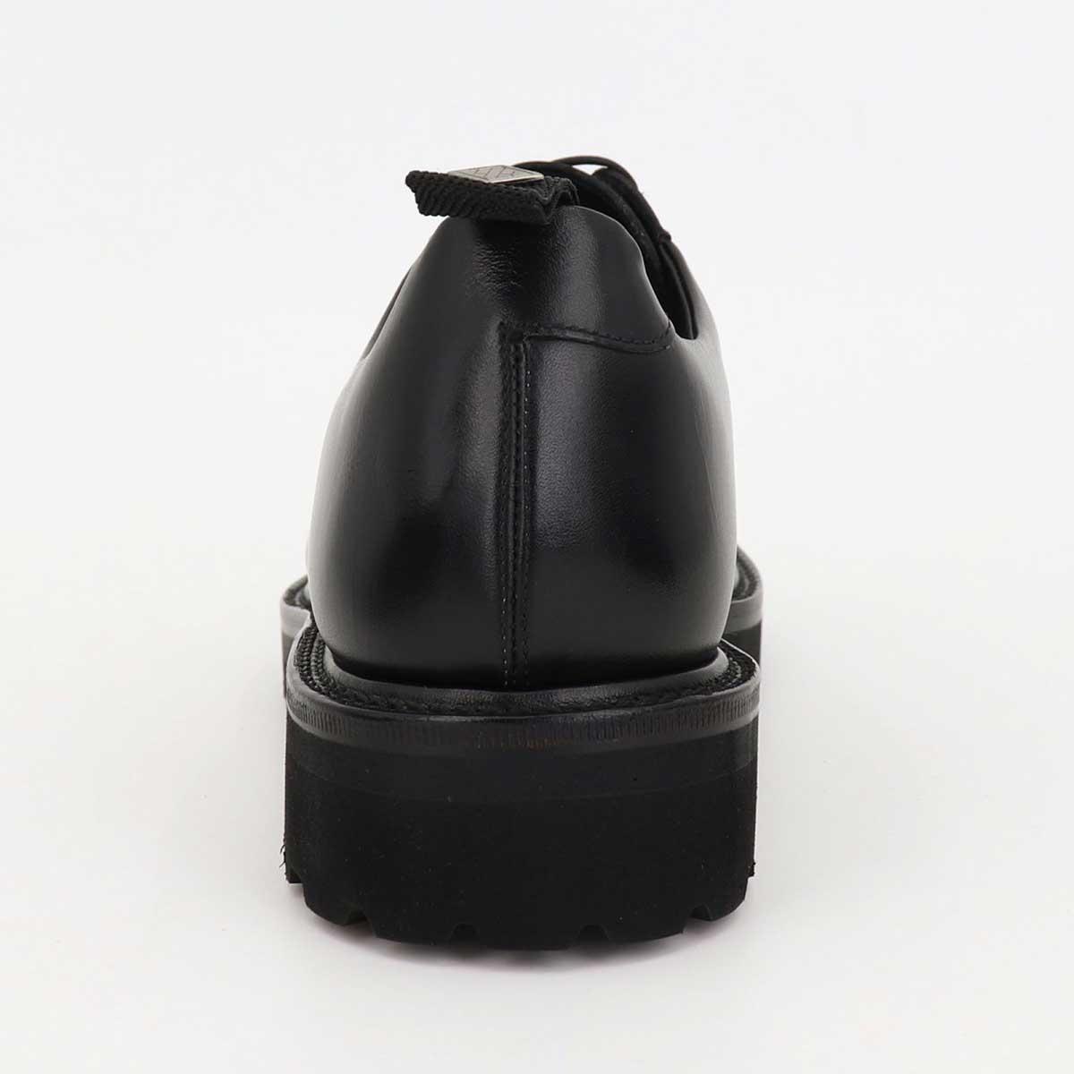 ダブルエイチ WH メンズ カーフレザー 外羽根式 プレーントゥ オックスフォードシューズ 干場氏別注モデル WH2S-0001 BLK(ブラック)