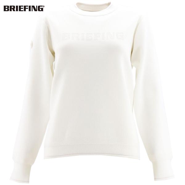 ブリーフィングゴルフ BRIEFING GOLF レディース クルーネックニットセーター WS WR CREW NECK KNIT BRG213W21 BRG 000 WHITE(ホワイト)秋冬新作