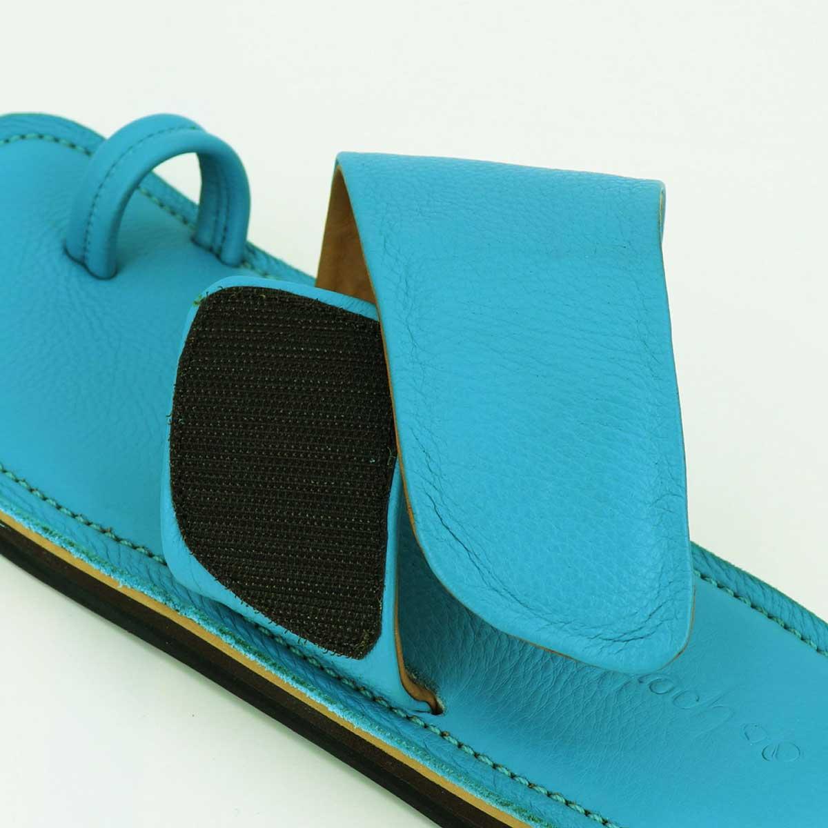 ポルペッタ POLPETTA メンズ グレインレザー サンダル TUBO NUDA-G TORQUISE (ターコイズ)