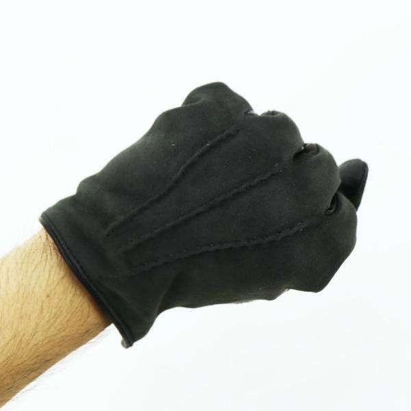 コレアーレグローブス Correale gloves メンズ ラムスエード×シープスキン ナッパレザー カシミア タッチパネル対応 グローブ 手袋 CRM-6063 CRG(グレー)秋冬新作