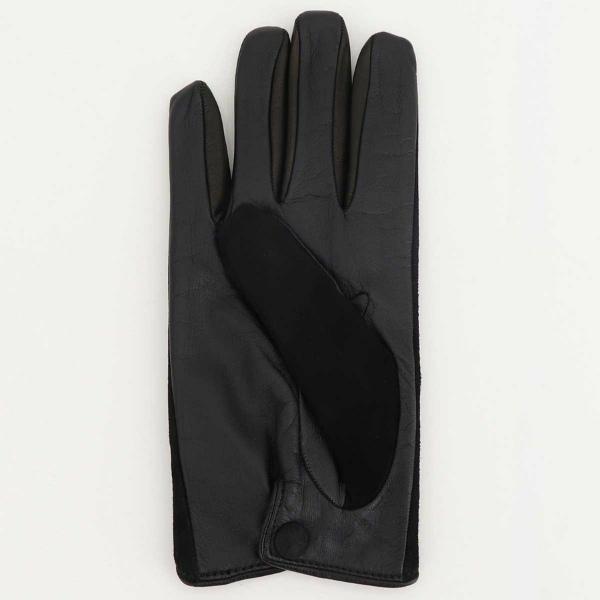 コレアーレグローブス Correale gloves メンズ ラムスエード×シープスキン ナッパレザー カシミア タッチパネル対応 グローブ 手袋 CRM-6063 CRG(ブラック)秋冬新作