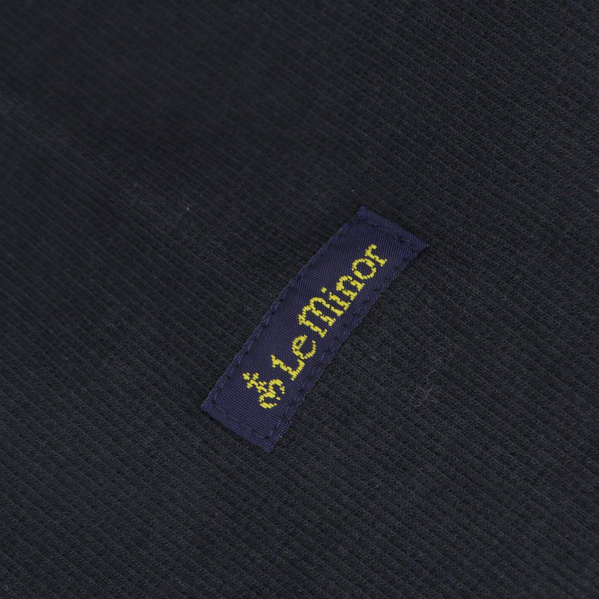 ルミノア Le minor レディース マイクロリブ 2WAY カーディガン LMRIB110 LMN V CARDIGAN CARBONE(ブラック)秋冬新作