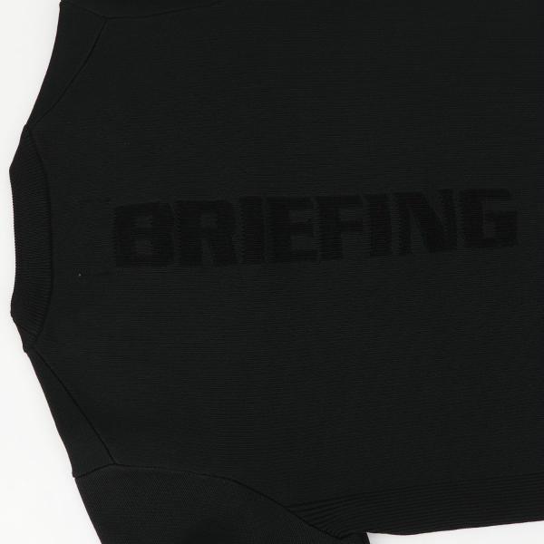 ブリーフィングゴルフ BRIEFING GOLF レディース クルーネックニットセーター WS WR CREW NECK KNIT BRG213W21 BRG 010 BLACK(ブラック)秋冬新作