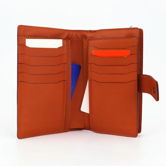 フェリージ Felisi クロコダイル型押し エンボスレザー 縦型 2つ折り財布 758/SA BLUE(ブルー)