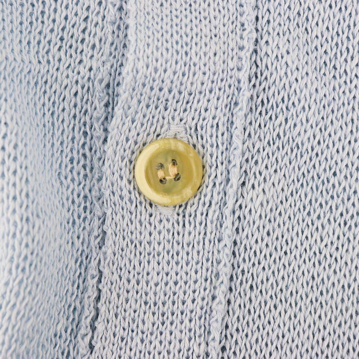 リナシェンテ RINASCENTE メンズ リネン サマーニットカーディガン 6756 RST(サックス) 春夏新作