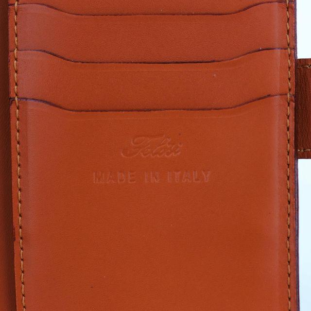 フェリージ Felisi クロコダイル型押し エンボスレザー 縦型 2つ折り財布 758/SA GRAY(グレー)
