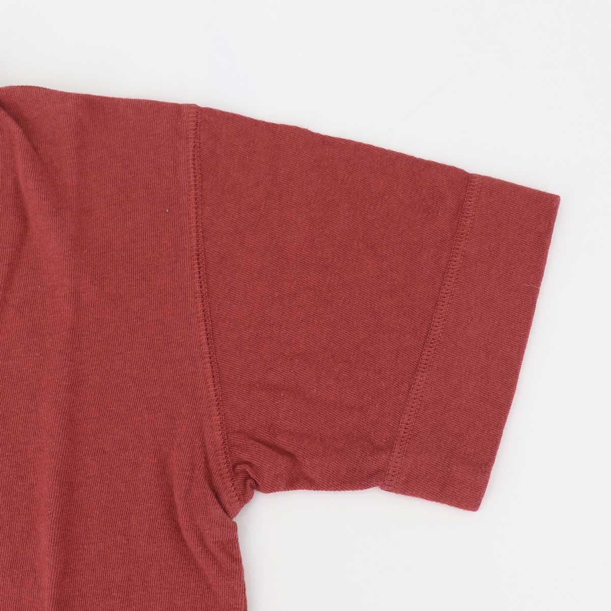 【クリアランスセール】スウィープ!! ロサンゼルス SWEEP!! LosAngeles メンズ スラブコットン 半袖 VネックTシャツ SLUB V-NECK SWSLVNK-17 RED(レッド)【返品交換不可】