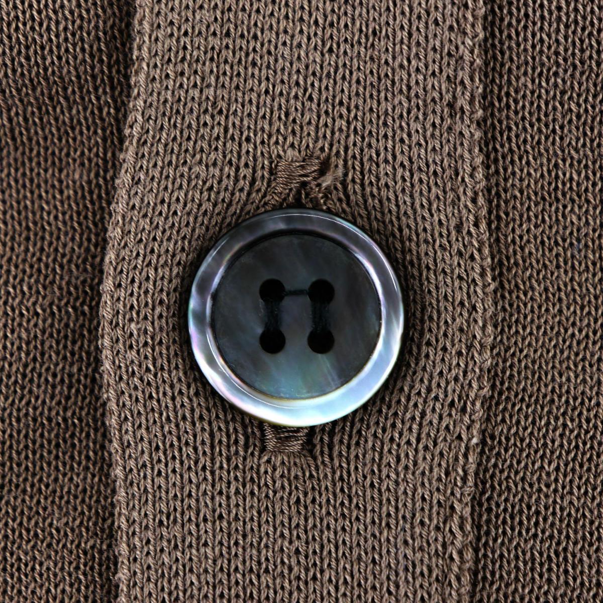 リナシェンテ RINASCENTE メンズ コットン ハイゲージ サマーニットカーディガン 203-61803 RST(ブラウン) 春夏新作