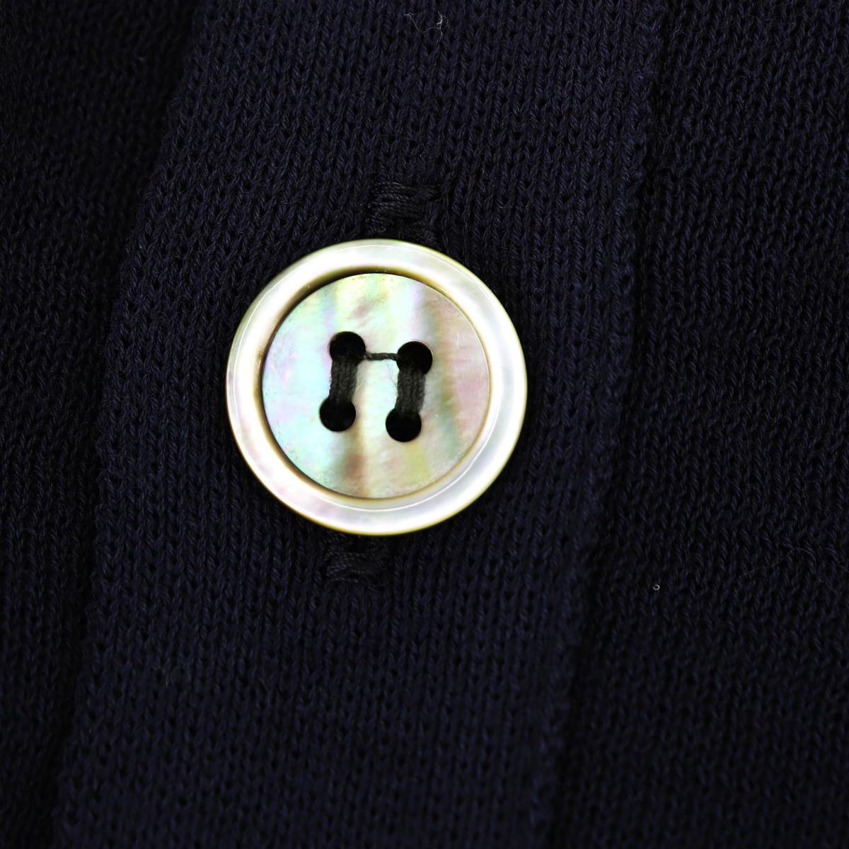 リナシェンテ RINASCENTE メンズ コットン ハイゲージ サマーニットカーディガン 203-61803 RST(ネイビー) 春夏新作