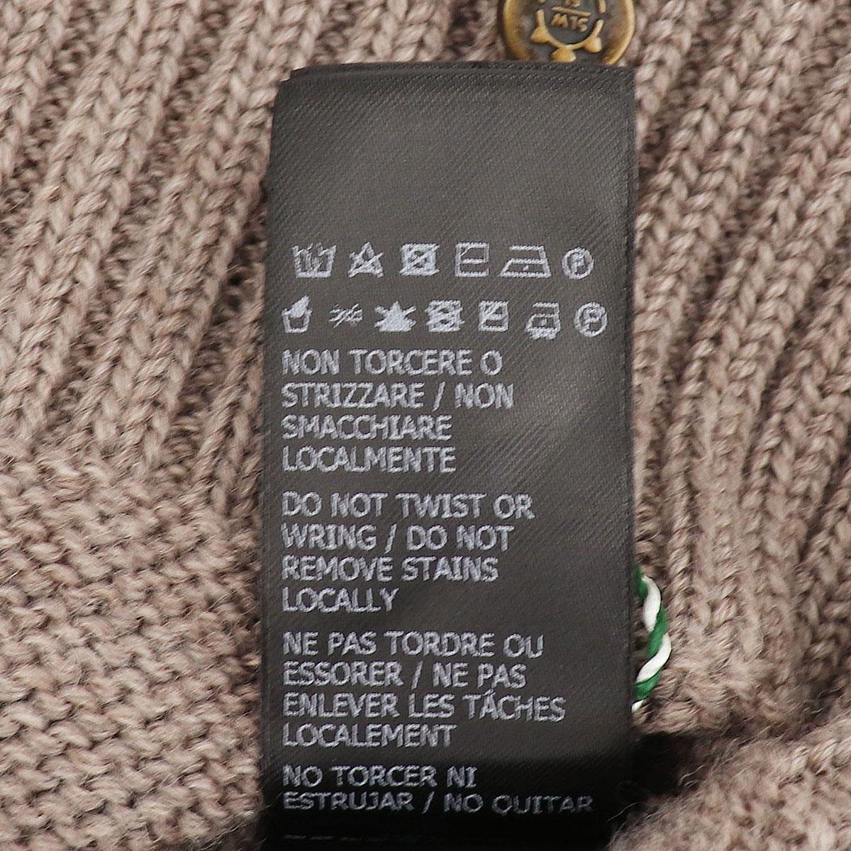 【クリアランスセール 半額以下】ザノーネ ZANONE メンズ ヴァージンウール ミドルゲージセーター ダブルブレスト ショールカラー ニットブルゾン SCIAL DP-MAN 812247 ZM201 Z1375(ベージュ)【返品交換不可】