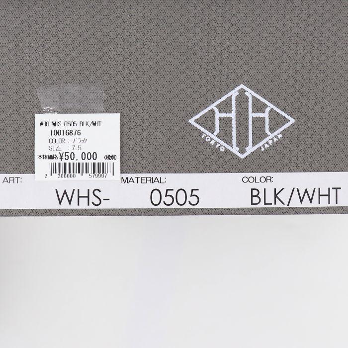 ダブルエイチ WH メンズ カーフレザー ツートーン コンビ コインローファー 干場氏別注モデル WHS-0505 BLK/WHT(ブラック×ホワイト)秋冬新作