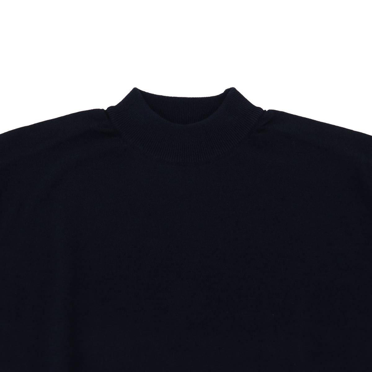 リナシェンテ RINASCENTE メンズ コットン モックネック ハイゲージ サマーニットセーター 203-61805 RST(ネイビー) 春夏新作