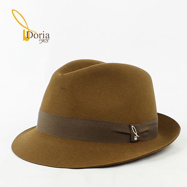 【クリアランスセール 半額以下】ドリア1905 Doria1905 ユニセックス 中折帽 フェドーラ D0045R-D0 0020174(ブラウン)【返品交換不可】