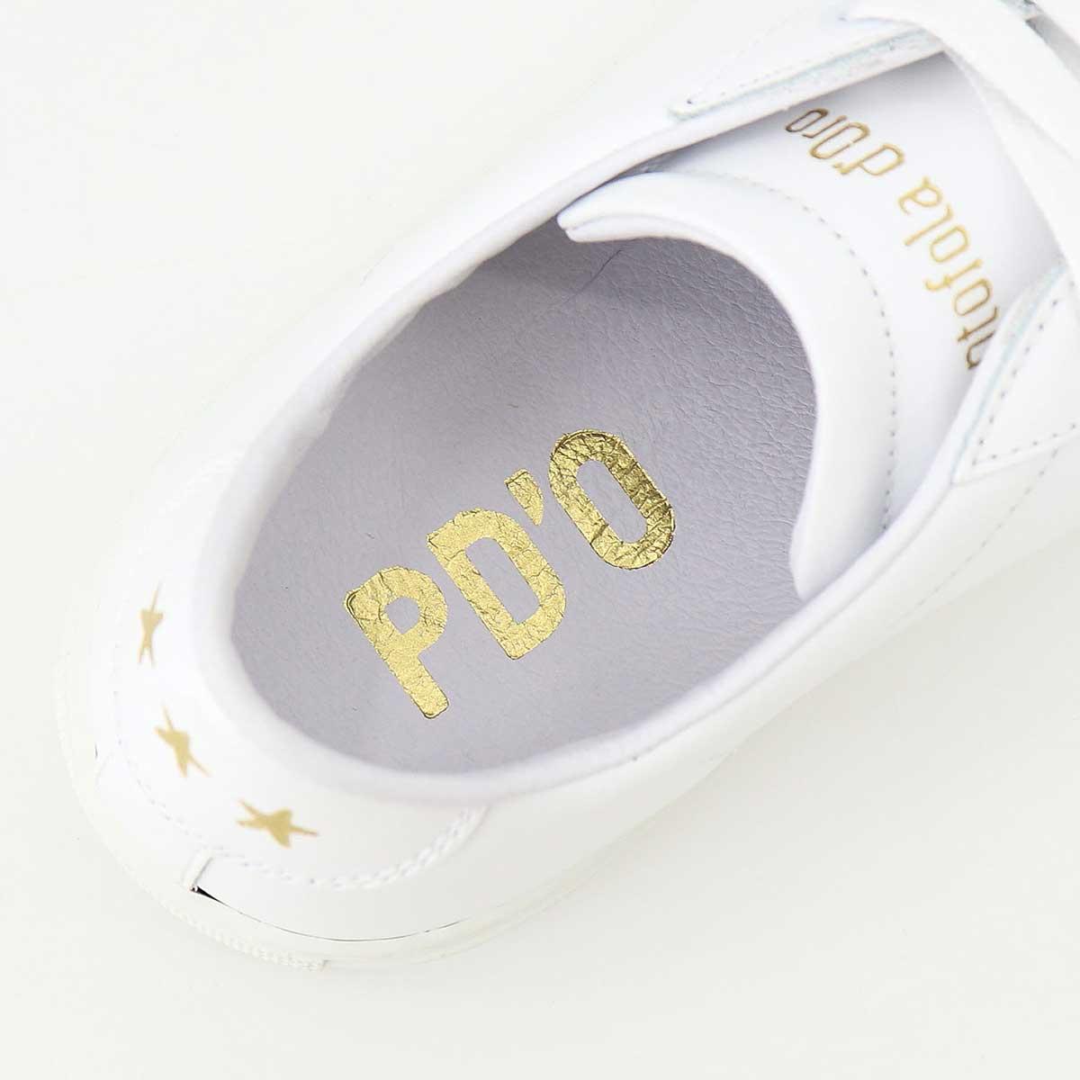 パントフォラドーロ Pantofola d'Oro メンズ レザー ローカットスニーカー THREE STAR PDO TSL20 WHT(ホワイト)