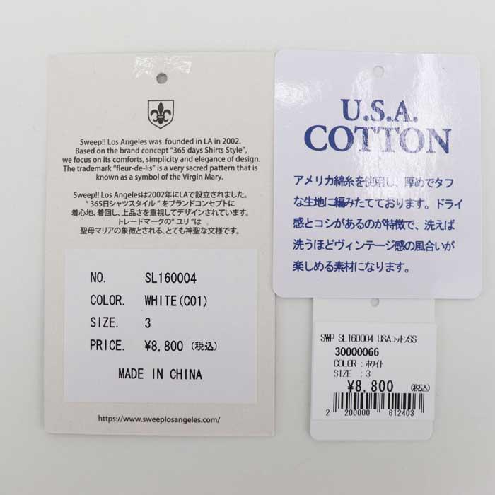スウィープ ロサンゼルス Sweep!! LosAngeles メンズ USAコットン クルーネック 半袖 Tシャツ USA COTTON-T / SL160004 SWP WHITE(ホワイト) 春夏新作