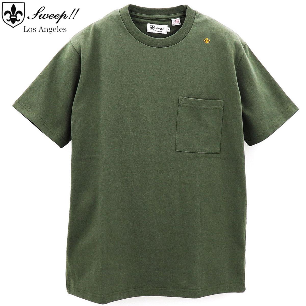 スウィープ ロサンゼルス Sweep!! LosAngeles メンズ USAコットン クルーネック 半袖 Tシャツ USA COTTON-T / SL160004 SWP KHAKI(カーキ) 春夏新作