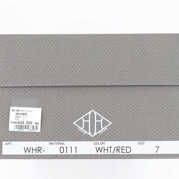 ダブルエイチ WH メンズ フレンチキップ レザースニーカーヒロシツボウチ×干場義雅 別注 WHR-0111 WHITE×RED(ホワイト×レッド)