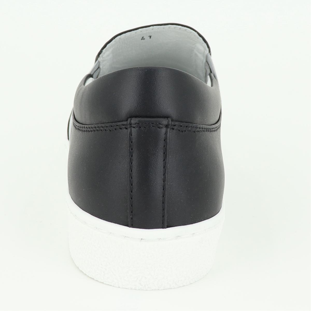 パントフォラドーロ Pantofola d'Oro メンズ スムースレザー スリッポンスニーカー PDO-SOL90 BLK(ブラック)