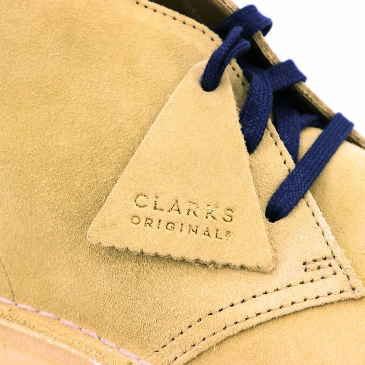 クラークス オリジナルズ CLARKS ORIGINALS メンズ スエード デザートコール フラットシューズ DESERT COAL 26154821 MAPLE SUEDE(ベージュ)秋冬新作