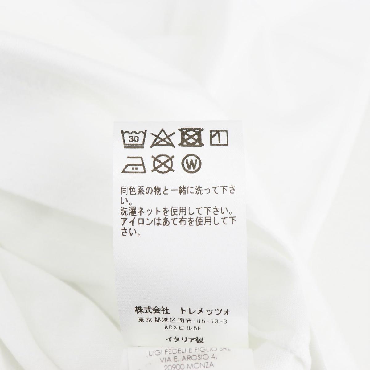 フェデーリ FEDELI メンズ GIZA オーガニックコットン クルーネックTシャツ EXTREME MM. FDL 41(ホワイト) 春夏新作