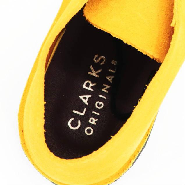 クラークス オリジナルズ CLARKS ORIGINALS メンズ スエード デザートコール フラットシューズ DESERT COAL 26154825 MUSTARD(マスタード)秋冬新作