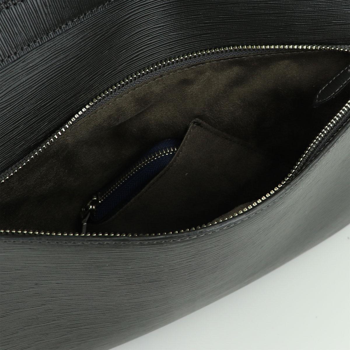 ペッレモルビダ PELLE MORBIDA CAPITANO キャピターノ 型押しレザー 3way リュック型ブリーフバッグ PMO-CA207 GRAY(チャコールグレー)