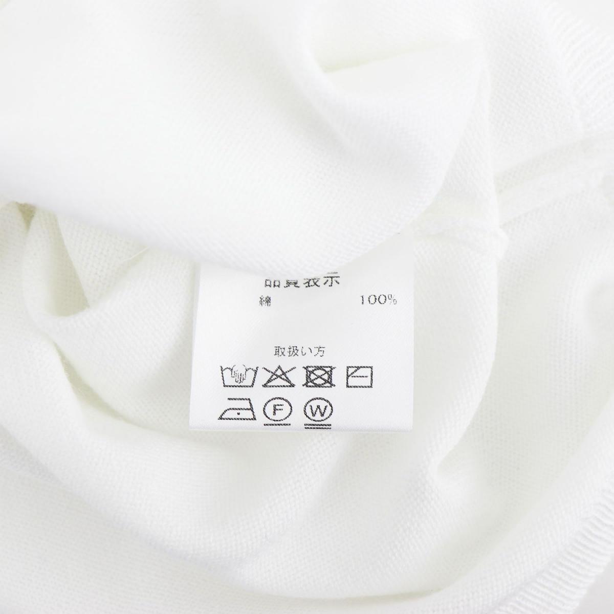 クルチアーニ CRUCIANI メンズ ファインゲージ コットンニット クルーネック 半袖 カットソー JU1113 CRU Z0001(ホワイト) 春夏新作