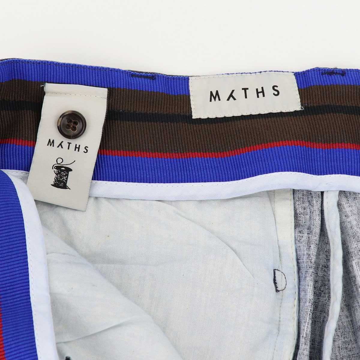 【クリアランスセール】ミース MYTHS メンズ コットンリネン ストレッチ サイドアジャスター ワンプリーツ ショートパンツ 20M70B 290-12501-77(ネイビー)【返品交換不可】