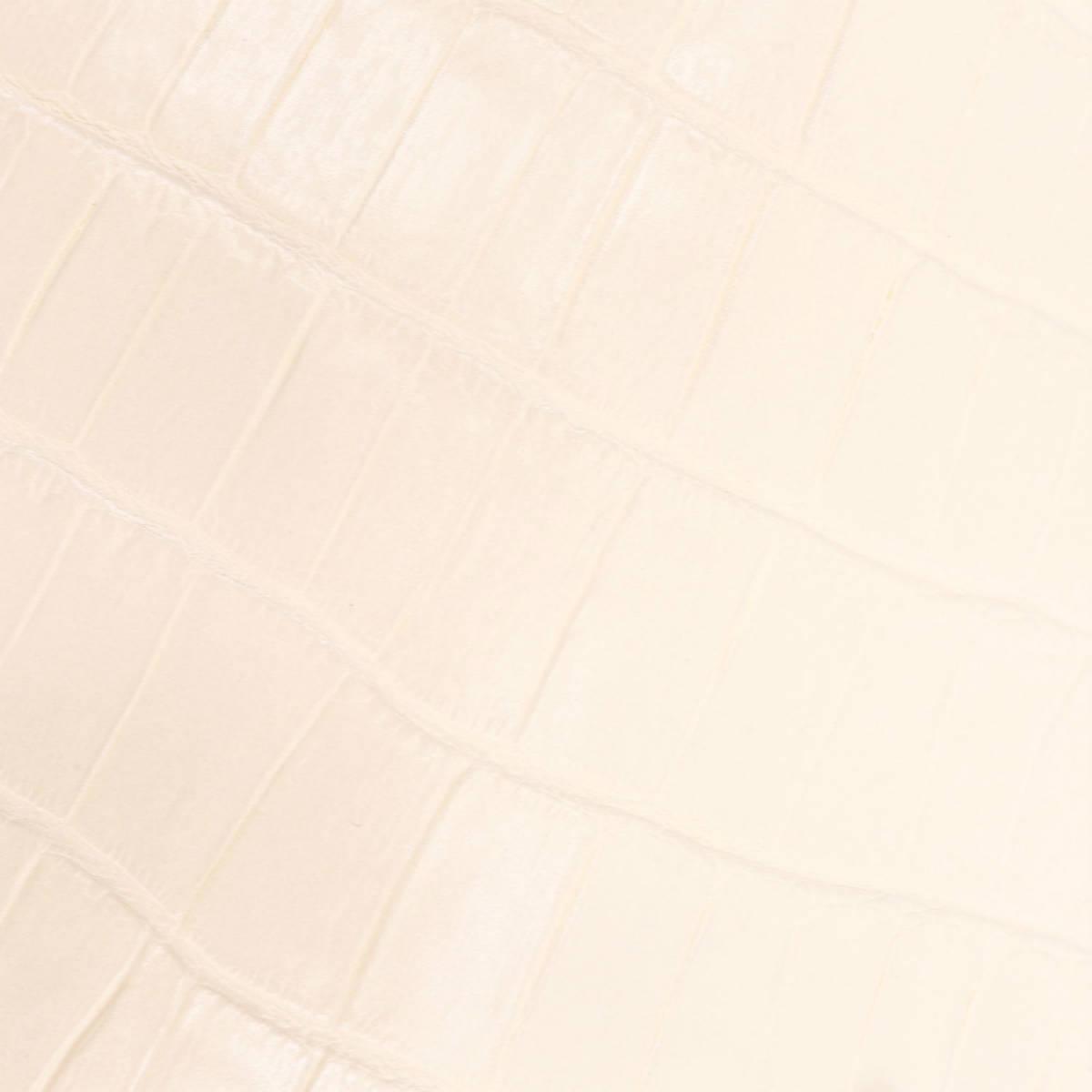 フェリージ Felisi クロコダイル型押し エンボスレザー 縦型 2つ折り財布 758/SA POWDER(アイボリー)